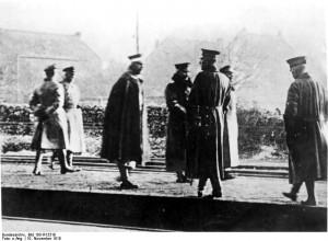 De Duitse keizer doet afstand van de kroon 9 november 1918