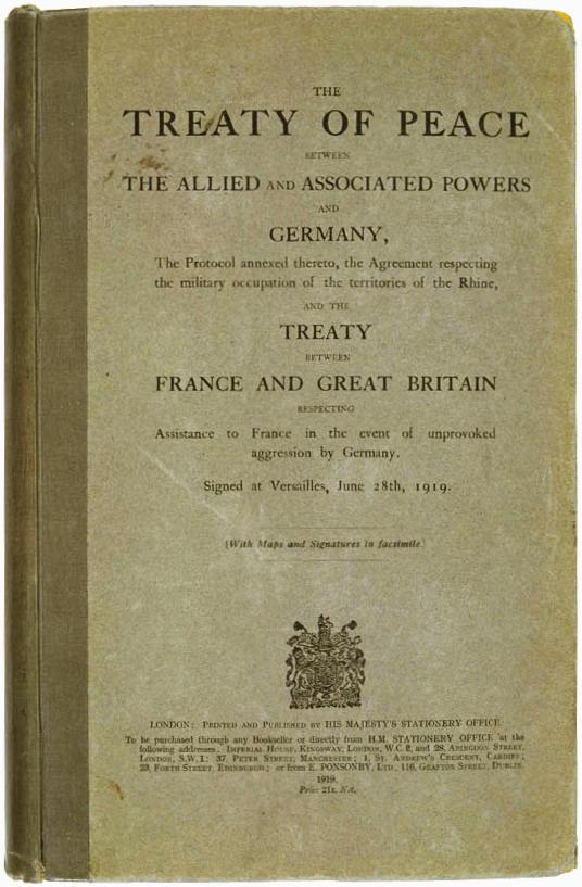 Verdrag van Versailles 28 juni 1919